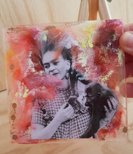 "Load image into Gallery viewer, Mini Works of Heart ""Frida With Her Pet Monkey"""