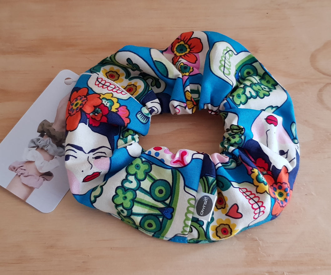 Frida with Sugar Skulls Scrunchie