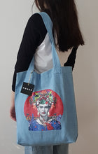 Load image into Gallery viewer, Festival of Frida Denim Tote