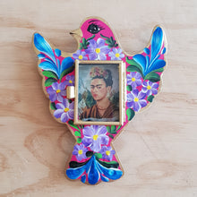 Load image into Gallery viewer, Dove Nicho with Frida - Mexican Tin Nicho