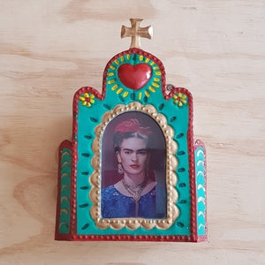 PRE ORDER - Church Nicho with Frida - Mexican Tin Nicho