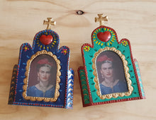Load image into Gallery viewer, Church Nicho with Frida - Mexican Tin Nicho