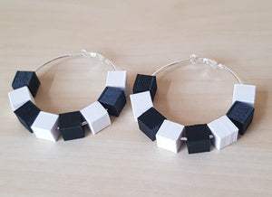 Monochrome Block Hoops