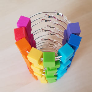 Rainbow Block Hoops