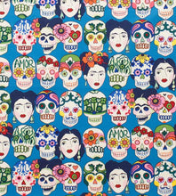 Load image into Gallery viewer, Frida with Sugar Skulls Scrunchie