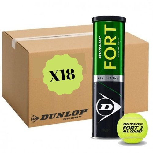 Carton de 18 tubes de 4 balles Dunlop Fort All Court TS - Mytennishop
