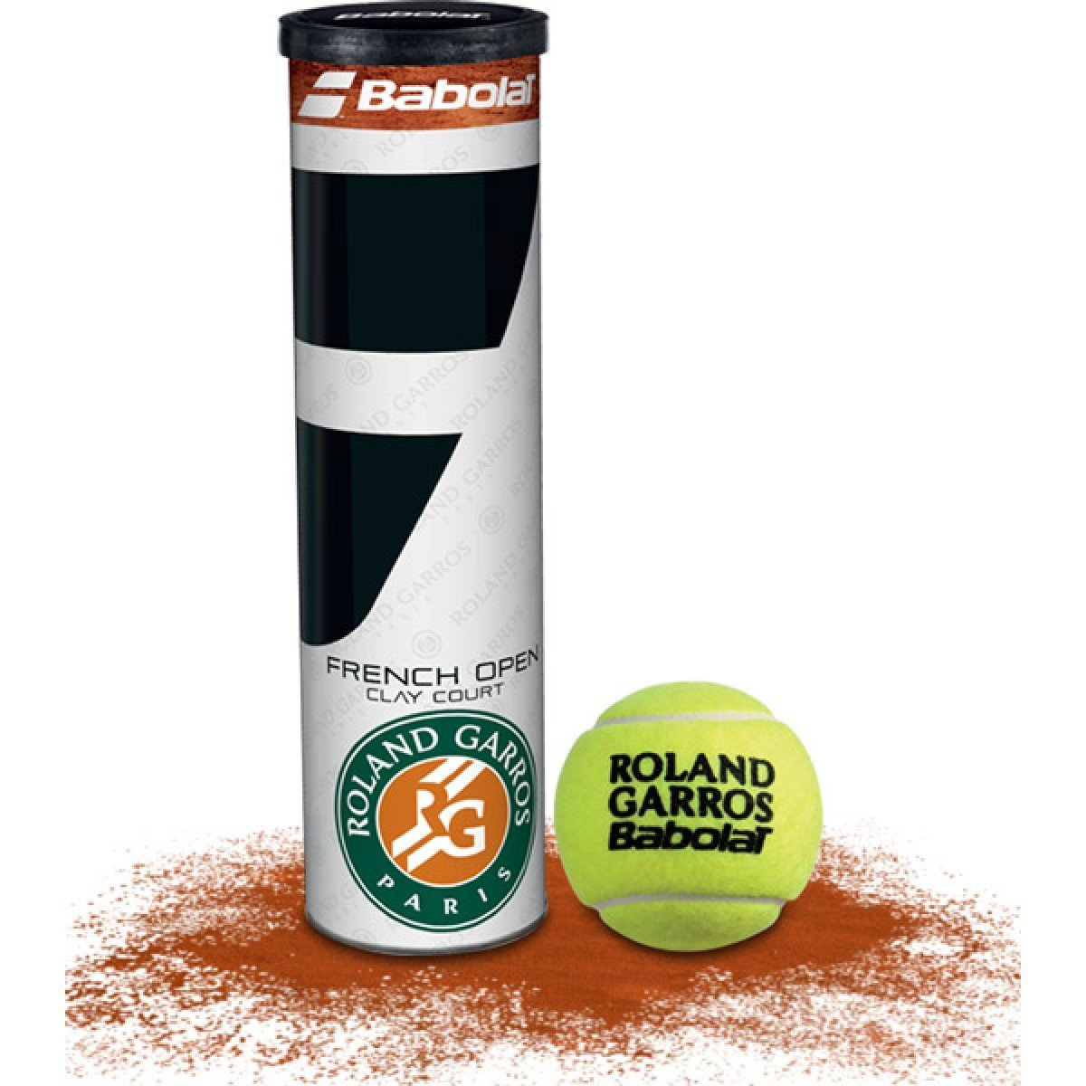 Tube de 4 balles Babolat French Open Clay Court - Mytennishop