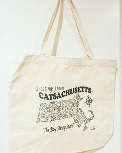 Catsachusetts Printed Tote Bag