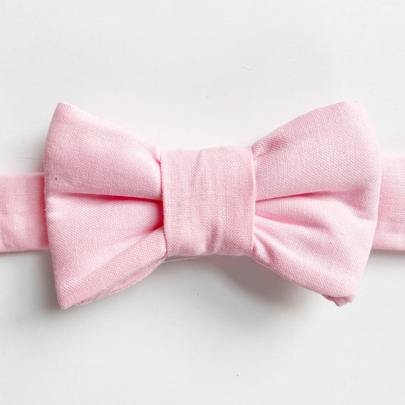 Classic Pale Pink Bow Tie for Cats