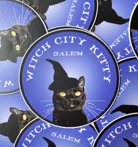 "Witch City Kitty 3"" Sticker"