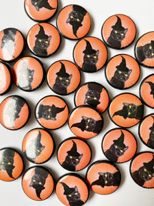"Witch City Kitty 1"" Pin"