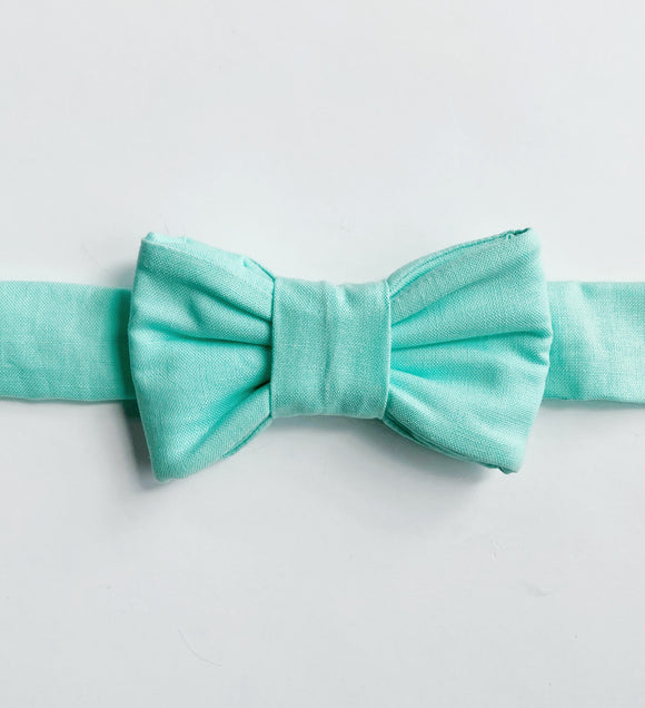 Classic Aqua Bow Tie for Cats