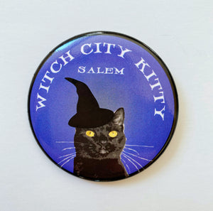 "Witch City Kitty 2"" Pin"