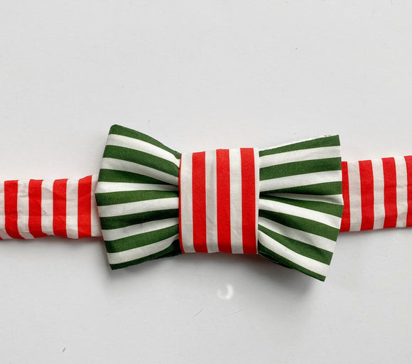 Catsmas Stripes Bow Tie For Cats