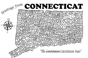 Connecticat Postcard