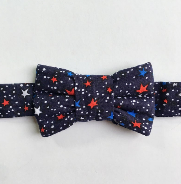 Patriotic Bow Tie Cat Collar