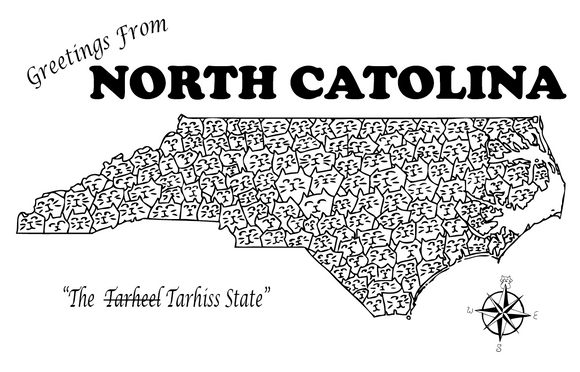North Catolina Postcard