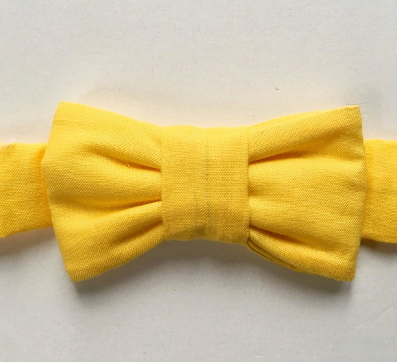 Classic Yellow Bow Tie For Cats