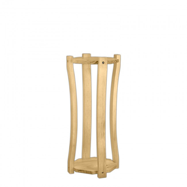 "Napa 27"" natural curved wood stands"