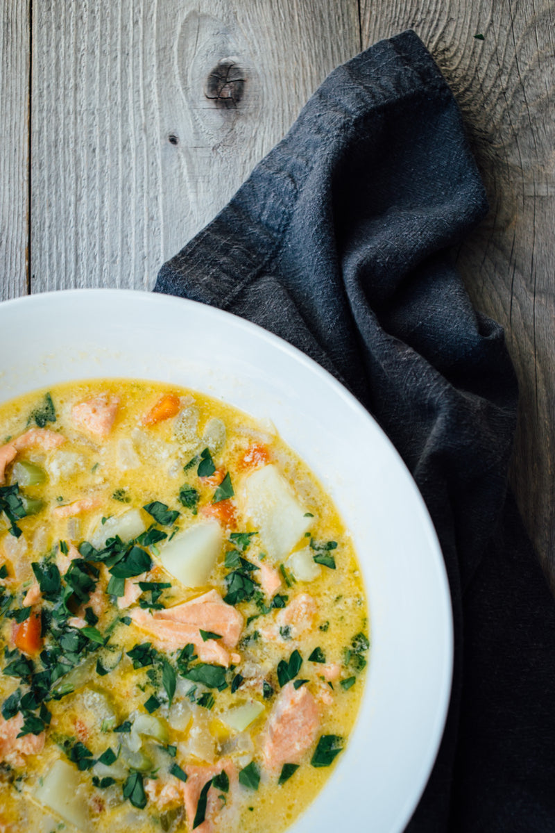 SALMON CHOWDER Ketogenic Food