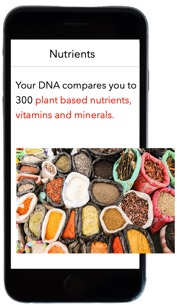 DNA testing matches your body to 300 plant based nutrients designed just for you into water fusions drinks.