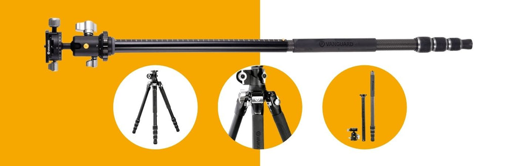 VEO 3T+ includes a leg that converts to a monopod