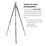 VEO 2 264CB 26mm Tall Carbon Fibre Travel Tripod with Ball Head