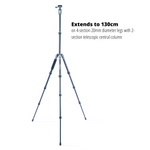 VEO 2 GO 204AB Ultra-Light Aluminium Travel Tripod - 3kg Load Capacity