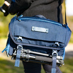 VEO RANGE 36M NV Shoulder Bag with Internal Travel Tripod Compartment (to 33cm folded) - Blue