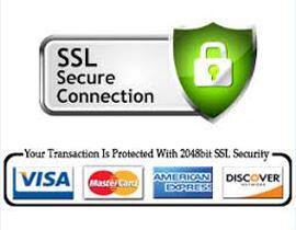 SSL Secure Connection, Your Transaction is protected with 2048bit SSL Security