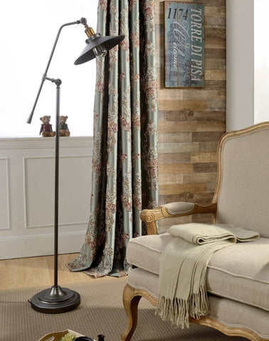 cheap European style silky grommet window curtains thermal drapes