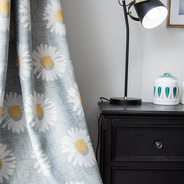 daisy gray curtains