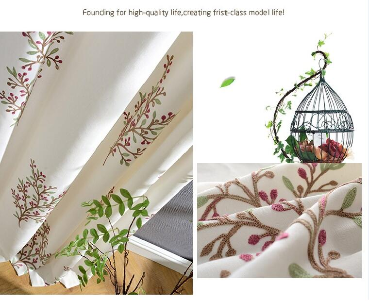 delicate embroidery curtains add to your high-quality life