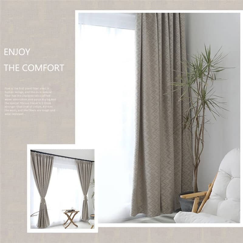 thick grey stripe patterned sliding glass door curtains thermal drapes