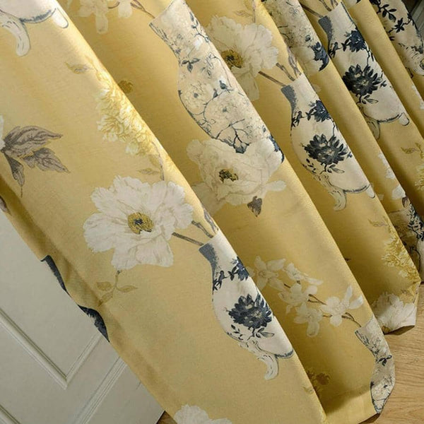 yellow decorative curtains
