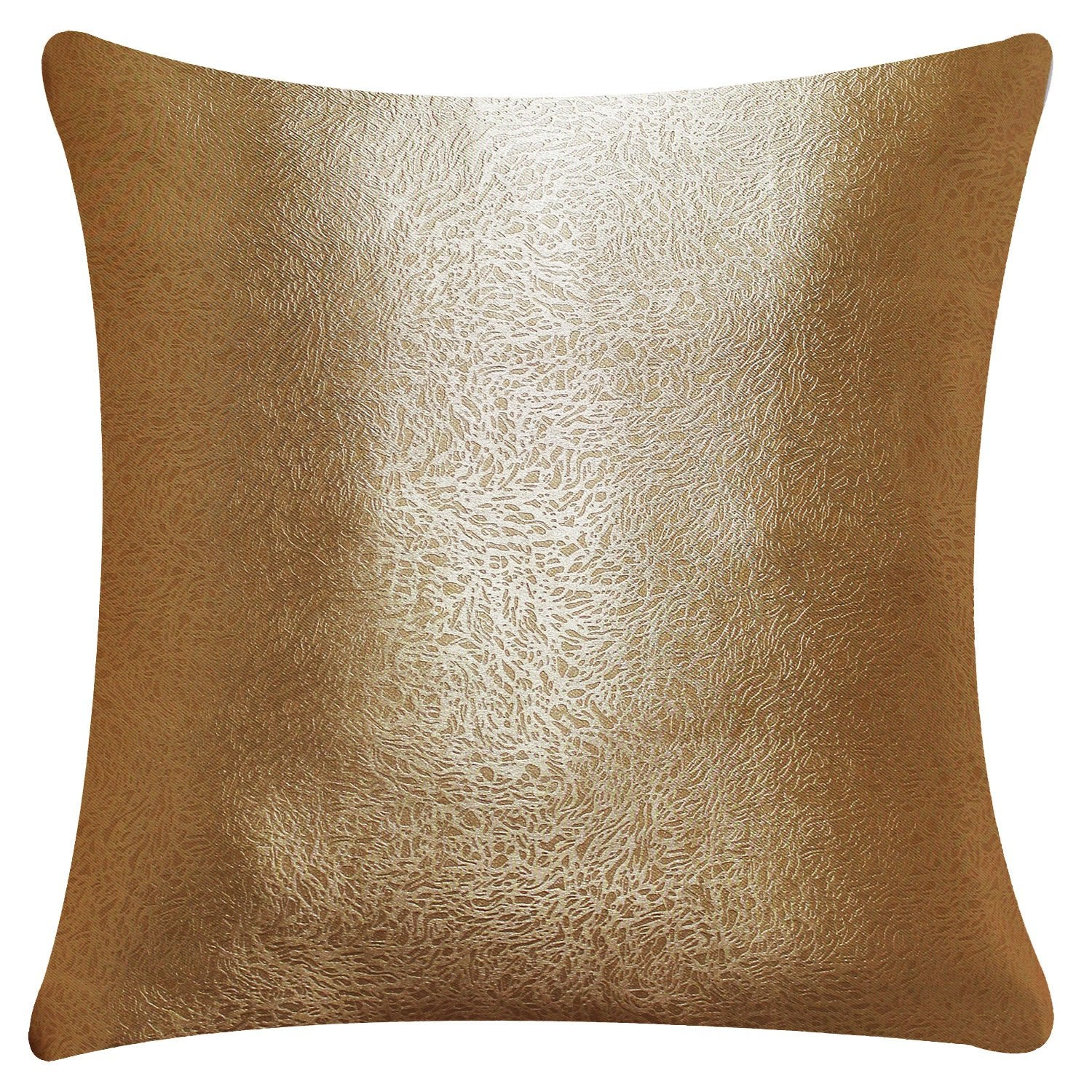 Aandy Top Golden Cushion Cover Decorative Square Throw Pillow Case Cover 1 Set of 2 Piece - Anady Top Space Design