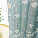 White Plum Curtains for Living Room Decro Blue Drapes 2 Panels - Anady Top Space Design