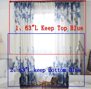 63 inch curtains blue options