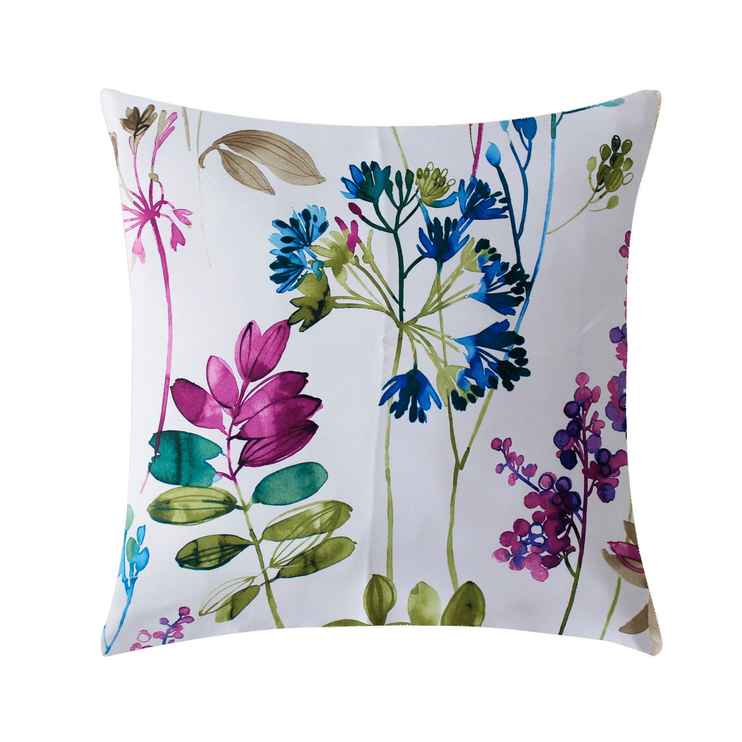 Aandy Top Purple Blue Flower Pillow Cover Cases 1 set of 2 Pillow Cases - Anady Top Space Design