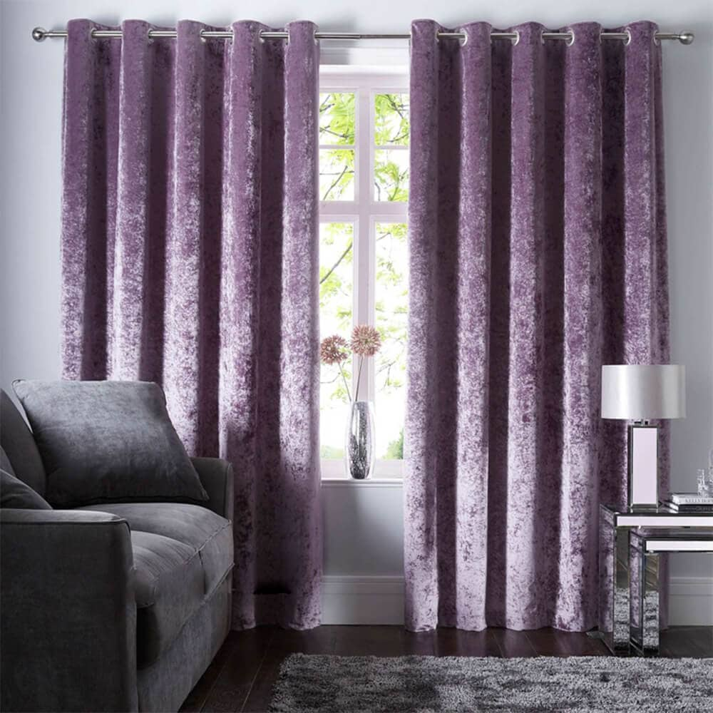amethyst velvet grommet curtains bedroom blackout drapes for sale