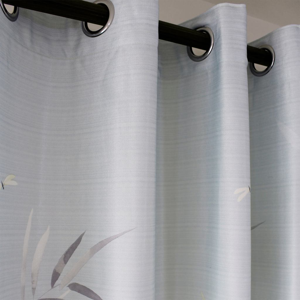 bamboo pattern grommet curtains room darkening bedroom ceiling drapes