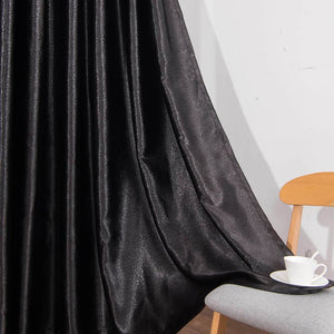black blackout curtains bedroom thermal insulated drapes for sale