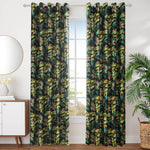 black floral blackout grommet curtains for sale