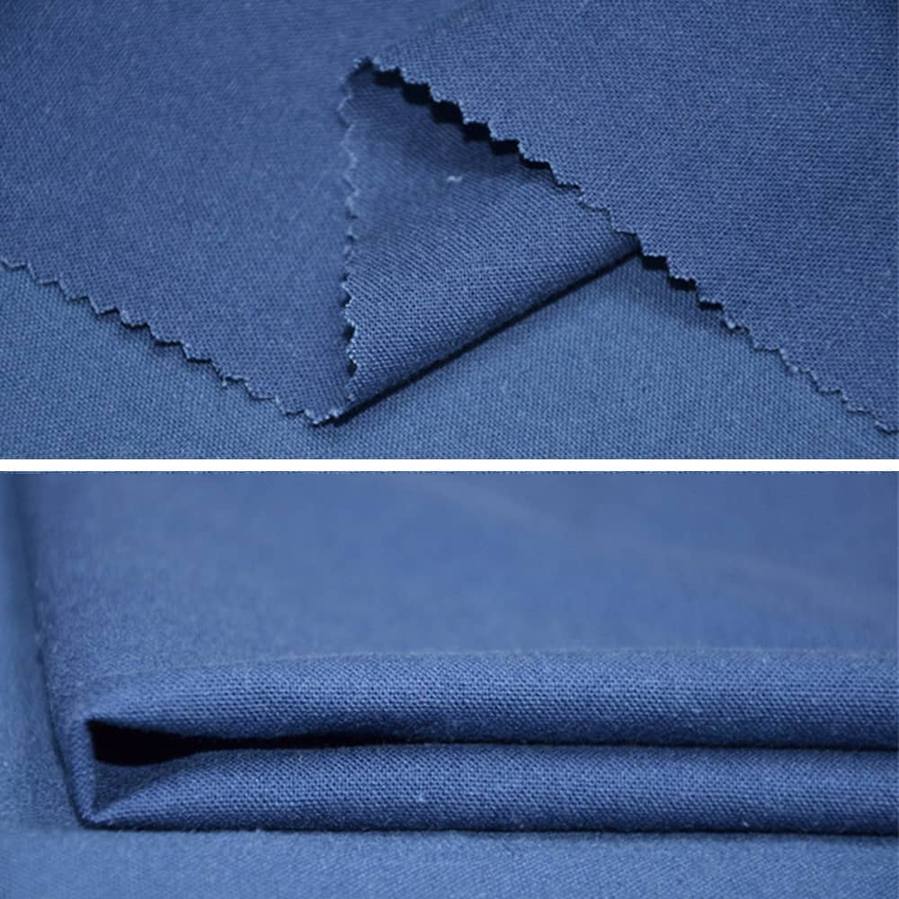 Denim Blue Natural Linen Curtains and Drapes 2 Panels for Living Room