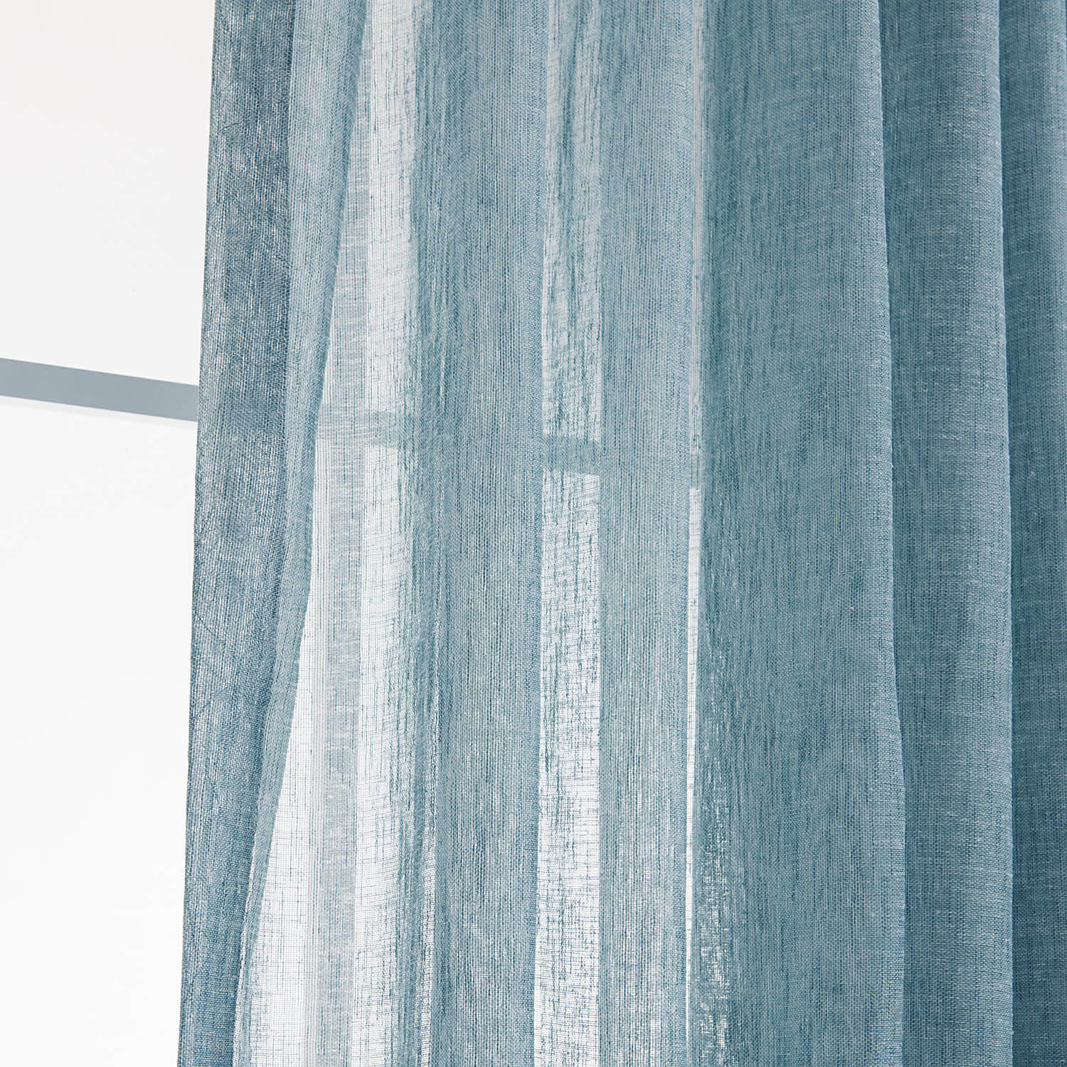Anady Top Blue Linen Sheer Curtains for Living Room 2 Panels - Anady Top Space Design