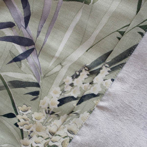 botanical polyester lined curtains custom kitchen window drapes - anady top