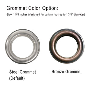 Bronze silver stainless steel grommets
