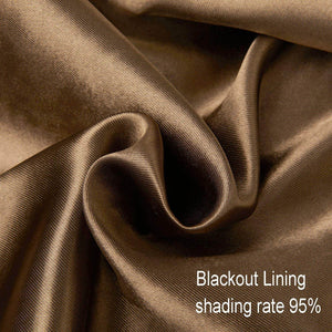 Solid Brown Curtains Grommet Top Drapes for Bedroom Set of 2 Panels