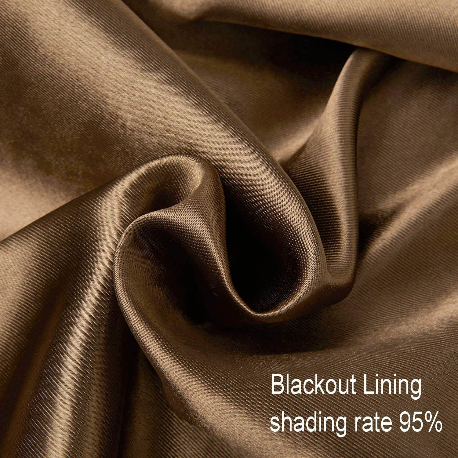 brown curtain lining