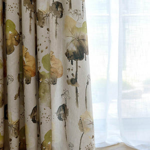 cheap lotus window curtains kids room divider curtain panels